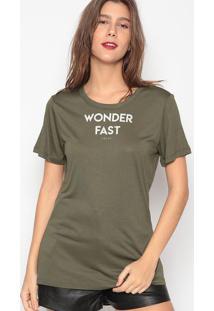 """Camiseta """"Wonder Fast""""- Verde Militar- Colccicolcci"""