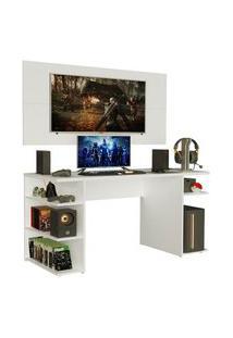 Mesa Gamer Madesa 9409 E Painel Para Tv Até 50 Polegadas Branco Branco