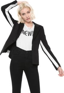 Blazer Sarja Calvin Klein Jeans Stretch Preto