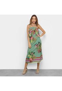 Vestido Mercatto Tropical - Feminino-Verde