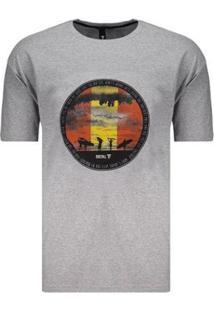 Camiseta Fatal Surf Estampada Masculina - Masculino-Cinza