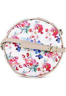 Bolsa Dergham Mini Bag Redonda Feminina - Feminino-Floral