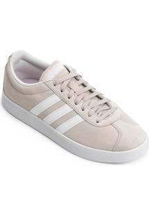 Tênis Adidas Vl Court 2 Feminino - Feminino-Bege+Branco