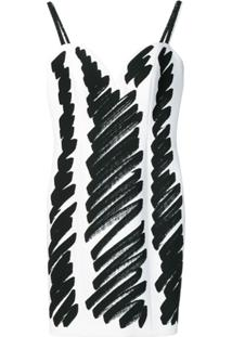 Moschino Vestido Com Estampa De Esqueleto - Preto