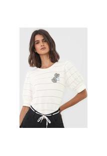 Blusa Hang Loose Listrada Nice Off-White