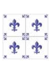 Adesivo De Parede Azulejos Flor De Liz