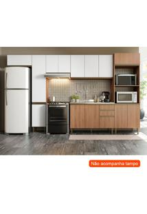 Cozinha Compacta Cook 14 Pt 2 Gv Madeira E Branca