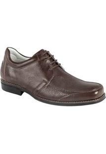 Sapato Social Couro Derby Sandro Moscoloni Trump Masculino - Masculino-Marrom Escuro