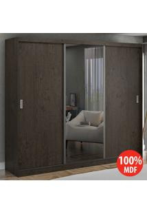 Guarda Roupa 3 Portas De Correr Com 1 Espelho 100% Mdf 774E1 Málaga - Foscarini