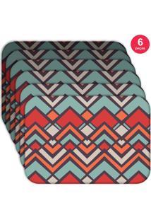 Jogo Americano Love Decor Wevans Abstract Color Kit Com 6 Pçs