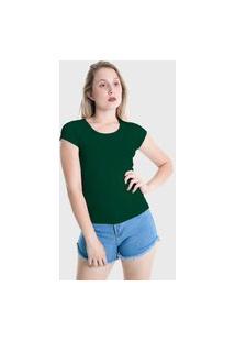 Camiseta T-Shirt Básica Lynnce Verde Escuro