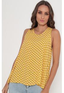Blusa Floral- Amarela & Preta- Lança Perfumelança Perfume