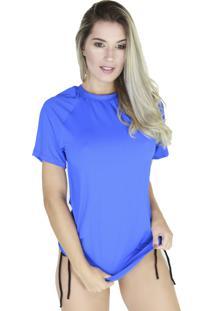 Camisa Térmica Curta Bravaa Modas Proteção Uv 038F Azul