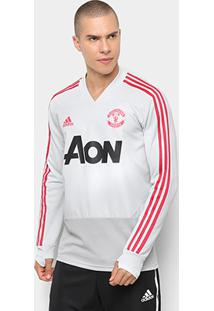 Blusa Manchester United Treino Adidas Masculina - Masculino