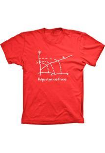 Camiseta Lu Geek Manga Curta Régua Vermelho