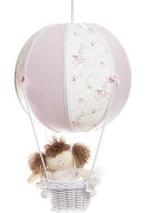 Lustre Balão Bolinha Quarto Bebê Infantil Menina Potinho De Mel Rosa