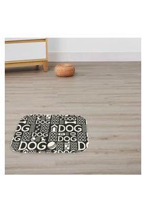 Tapete Decorativo Dogs Preto Único
