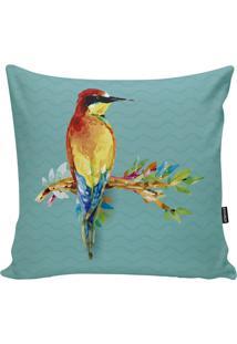 Capa Para Almofada Birds- Verde Água & Amarela- 45X4Stm Home