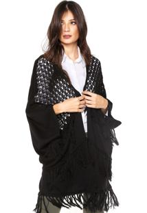 Kimono Colcci Tricot Loose Preto