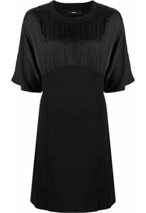Diesel Blouse-Dress With Gathered Detailing - Preto