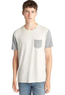 Camiseta Gap Color Block Off-White/Cinza
