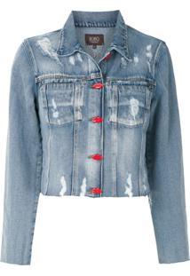 Bo.Bô Jaqueta Jeans Com Botões - Azul