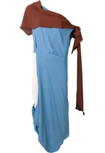Marni Asymmetric Toga Style Dress - Azul