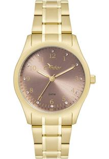 3d41f85c297 Okulos. Relógio Feminino Condor Analógico Com Cristais Swarovski  Co2035fnd K4j Dourado