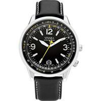 2dbf13fbfc2 Relógio Vivara Masculino Couro Preto - Ds13103R1F-1