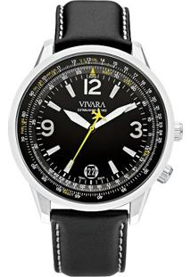 f44a273a6de ... Relógio Vivara Masculino Couro Preto - Ds13103R1F-1