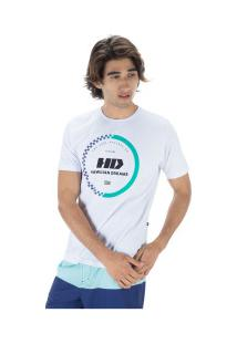 Camiseta Hd Estampada Gradient - Masculina - Branco