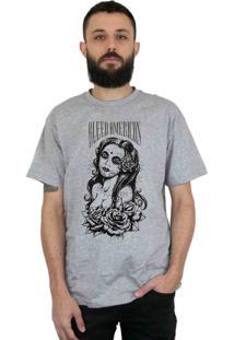 Camiseta Bleed American Timeless Cinza Mescla