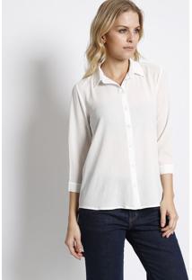 Camisa Texturizada- Branca- Intensintens