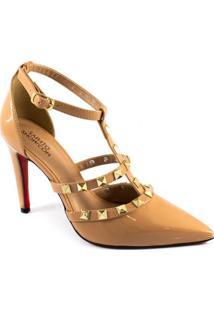 7816f69c4e Sapato Show. Sapato Com Salto Feminino Verniz Da Moda Numeração Grande  Tamanhos Especiais ...