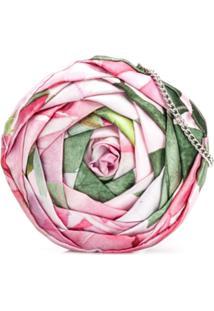 Monnalisa Floral Print Clutch - Rosa