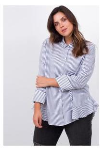Camisa Com Babados Curve & Plus Size