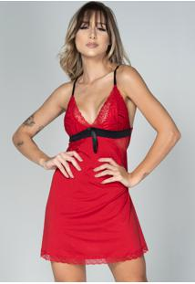 Camisola Bella Fiore Modas Lisa Com Laço Isis Vermellho