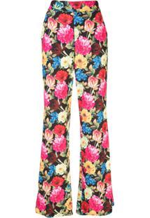 Alice+Olivia Calça Pantalona Com Estampa Floral - Estampado