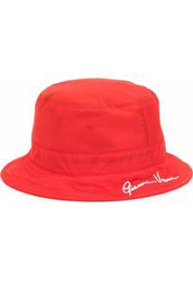 Versace Chapéu Bucket Gv Signature - Vermelho