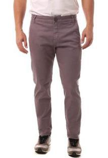 Calça Jeans Eventual Casual Masculina - Masculino-Cinza
