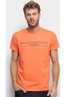 Camiseta Colcci Clothes Has Not Gender Masculina - Masculino-Laranja