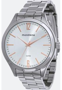 Kit Relógio Feminino Mondaine 76729L0Mvne1Ka Analógico 5Atm + Conjunto Semijóia