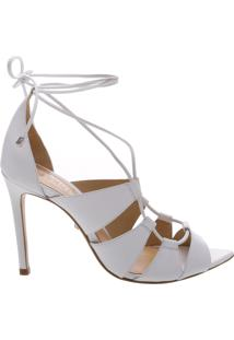 Sandália Bico Folha Lace-Up White   Schutz