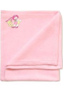 Acessórios De Bonecas - Cobertor Em Soft - 48X58 Cm - Pink - Laço De Fita