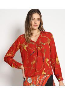 Blusa Tigre- Vermelha & Amarela- Estilo Hestilo H