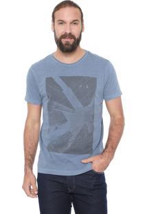 Camiseta Aramis Cidade Em Perspectiva Azul