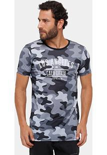 Camiseta Local Camuflada College Masculina - Masculino