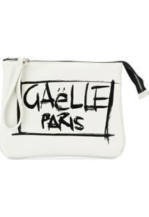 Gaelle Paris Kids Clutch Com Estampa Grafitti - Branco