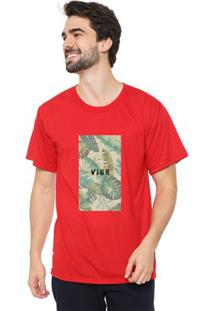 Camiseta Masculina Eco Canyon Vibe Vermelho
