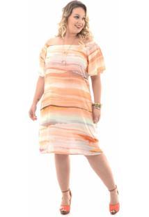Vestido Domenica Solazzo Tie Dye Plus Size